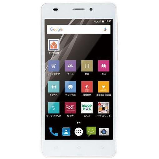 ヤマダ電機オリジナルモデル EP-171EN/G Android搭載SIMフリースマートフォン EveryPhone EN ゴ...