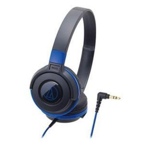 オーディオテクニカ STREET MONITORING ポータブルヘッドホン ブラックブルー ATH-S100 BBL 1本 [3925]