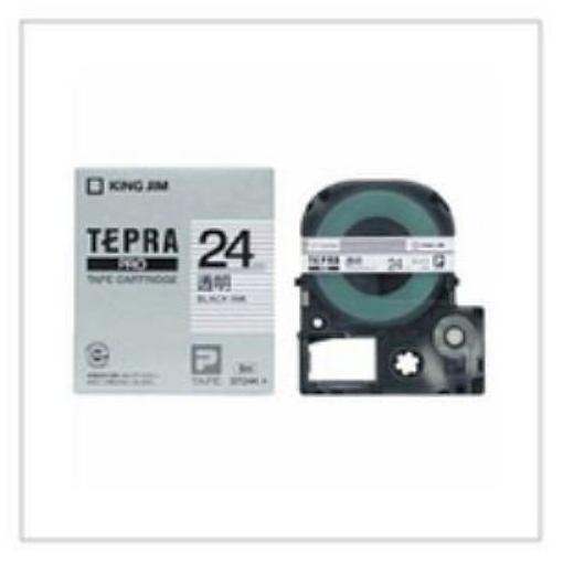キングジム テプラPRO テープカートリッジ透明ラベル 透明 黒文字 テープ幅:24mm ST24K