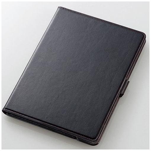 エレコム TB-A179360BK 9.7インチiPad(2017)ソフトレザーカバー(360) ブラック