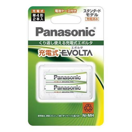 パナソニック エボルタ 充電式 単4形 2本パック BK-4MLE2BC [9004]