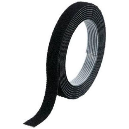 トラスコ TRUSCO マジックバンド結束テープ 2mm厚 両面タイプ 幅10mm×長さ1.5m 黒 MKT-1015-BK