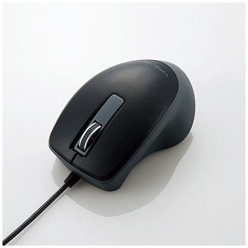 """エレコム M-TP10UBBK 有線3ボタンBlueLEDマウス""""TIPS AIR"""" ブラック画像"""