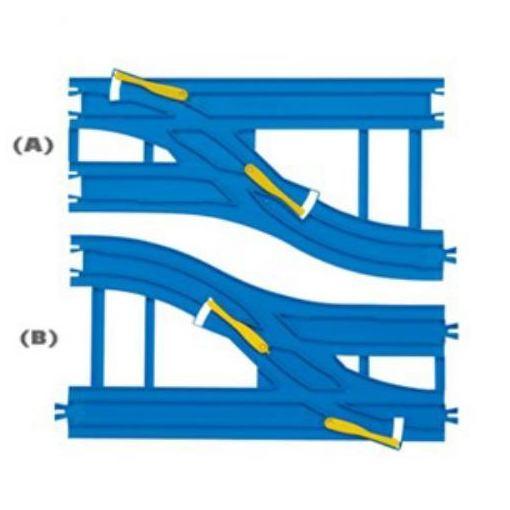 タカラトミー R−15 複線幅広ポイントレールプラレール画像