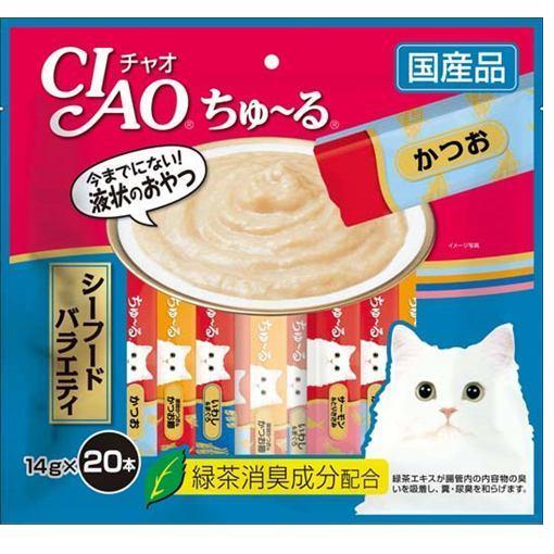 いなば チャオ 猫用おやつ ちゅ~る シーフードバラエティ 14g×20本入 [5947]
