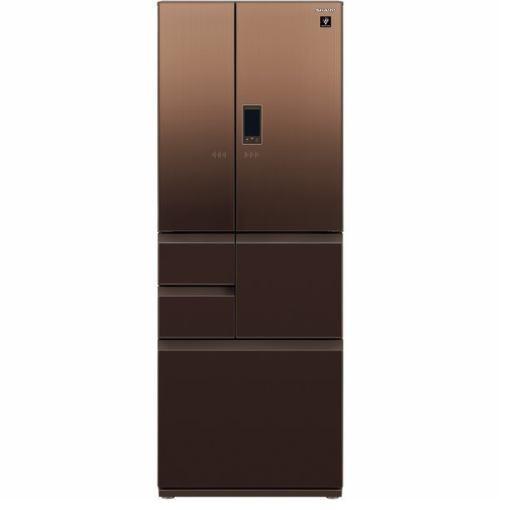 【無料長期保証】シャープSJ-GA50E-T6ドア冷蔵庫(502L・フレンチドア)エレガントブラウン系
