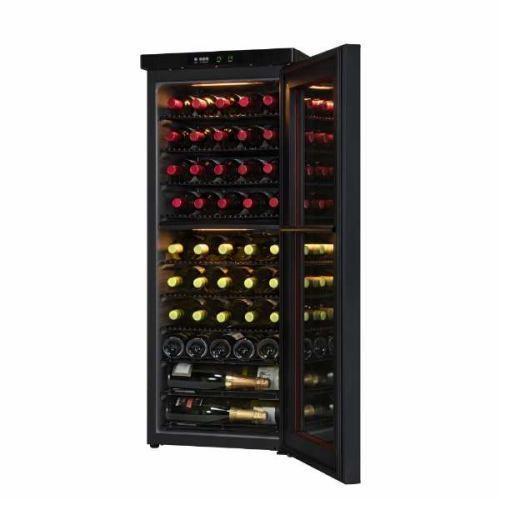 【ポイント10倍!】【無料長期保証】さくら製作所 SS46 二温度管理式 ワインセラー 46本収納 ブラック
