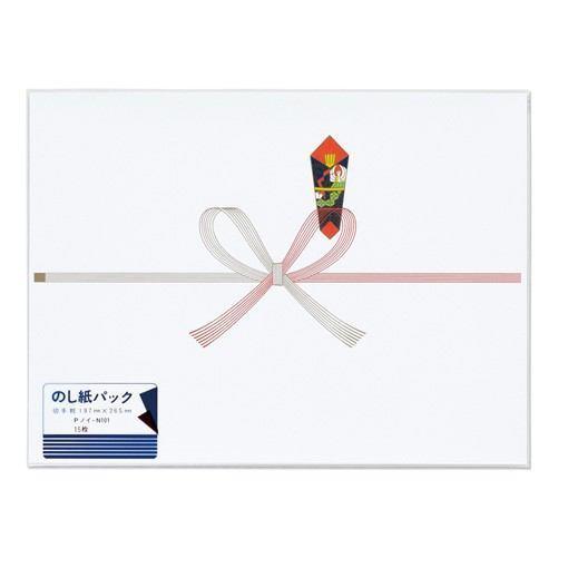 マルアイ マルアイ マルアイ 祝のし紙 切手 厚口 N パック Pノイ-N101 20袋(300枚:15枚×20)