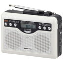 オーム電機 CAS-381Z AudioComm デジタル録音ラジオカセット