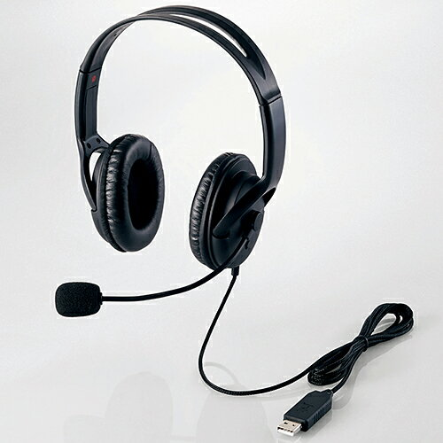エレコム HS-HP28UBK ヘッドセット ブラック USB 両耳 ヘッドバンドタイプ ELECOM