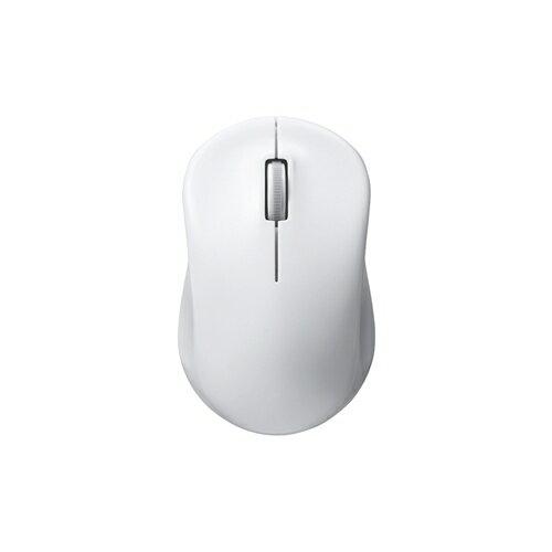 バッファロー 無線 2.4GHz IR LED光学式マウス 3ボタン 電池長持ち ホワイト BSMRW100WH 1台