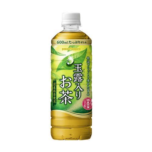 ポッカサッポロ 玉露入りお茶 ペット 600ml×24本