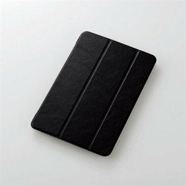 エレコム TB-A19SWVBK iPad mini 2019年モデル/iPad mini 4用フラップカバー 背面クリア ソフトレザーフラップ 2アングル ブラック
