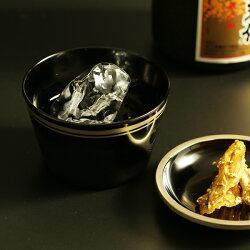 蕎麦猪口(皿付)縁錫(朱/黒)