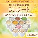 【山田養蜂場】はちみつジェラートよくばりセット 1箱(12個入)