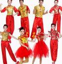 チャイナ風ダンス衣装 舞台ステージ演出服 上下セットアップ 大人男女兼用ダンスライオン 中華風舞台ダンスウェア 太極拳武術ダンス演出服 レディース