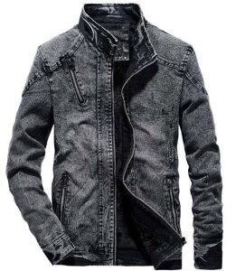 送料無料 メンズジャケット デニムジャケット 立派なスプリングコート立ち襟スリム Gジャン 2色 紳士服 テーラードジャケット 定番 大きいサイズ トレンチコート