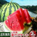 山形県尾花沢産共台すいか3L約8kg送料無料