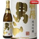 遅れてごめんね 父の日 ギフト プレゼント 日本酒 羽陽男山 純米吟醸酒 酒未来 1800ml 山形県