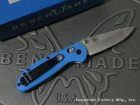 BENCHMADE/ベンチメイド#556-BLUミニ・グリップティリアンシルバー直刃ブルーハンドル2