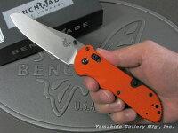 BENCHMADE/ベンチメイド#915-ORGトリアージシルバー直刃/オレンジハンドル6