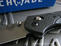 BENCHMADE/ベンチメイド#940-1OsborneCarbonオズボーンシルバー直刃/カーボンハンドル5