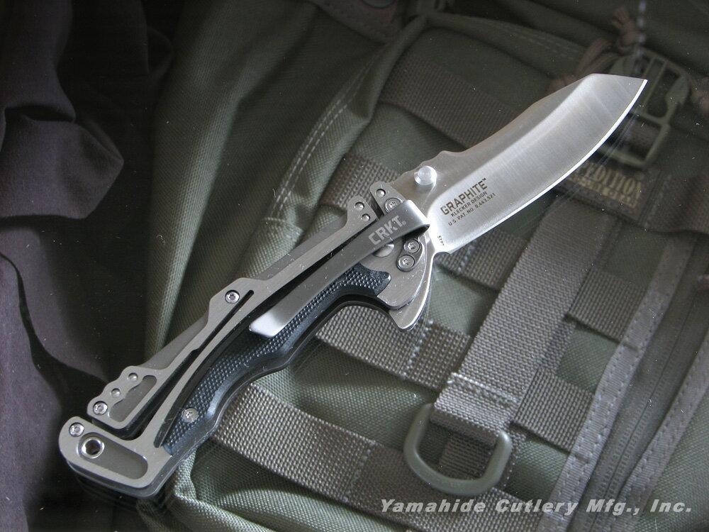CRKT/コロンビアリバー #5190 グラファイト 折りたたみナイフ/シルバー直刃