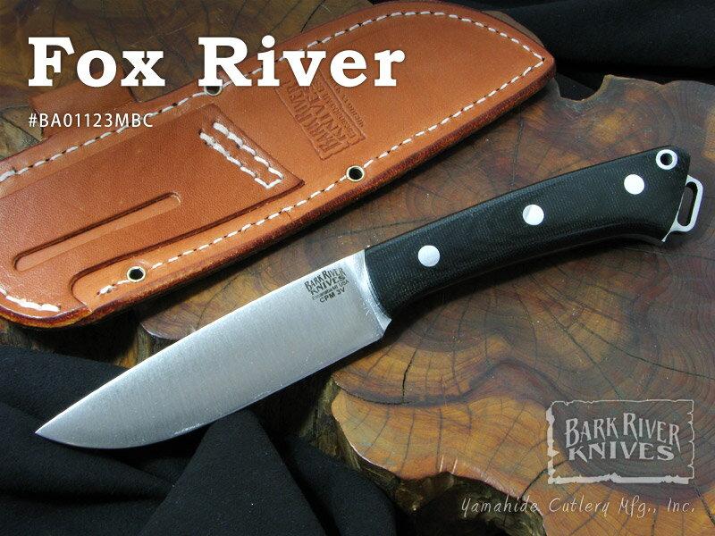 Bark River/バークリバー #BA01123MBC Fox River フォックスリバー/ブラックキャンバスマイカルタ シースナイフ【取寄】