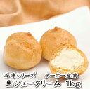 「喜八郎市場 冷凍シリーズ」ケーオー産業)生シュークリーム(1kg)(10P06Aug16 シュークリーム 簡単 冷凍 業務用 プチシュー)