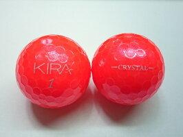 【Aランク】KIRACRYSTAL(キラクリスタル)キャスコ2018レッド1球【マーク・ネーム無】【中古】ロストボール