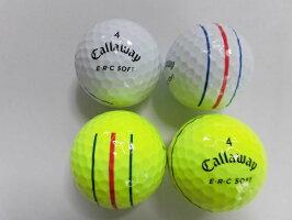 【Sランク】キャロウエイERCソフトトリプルトラック2019年1球【マーク・ネーム無】【中古】ロストボールゴルフボールERCSOFT