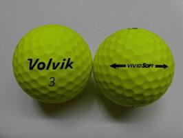 【Bランク】ボルビックビビッドソフトイエロー1球【マーク・ネーム無】【中古】ロストボールゴルフボールvolvikVIVIDSOFT