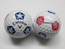 【Sランク】キャロウェイスターズ&ストライプスクロムソフトトゥルービス2019年1球【マーク・ネーム無】【中古】ロストボールゴルフボールCHROMESOFTTRUVIS19ボール