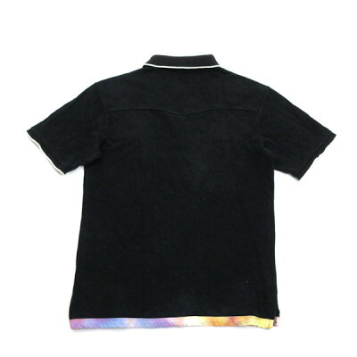 サスクワッチファブリックス/sasquatchfabrix鹿の子半袖ポロシャツ【M】★黒MENS