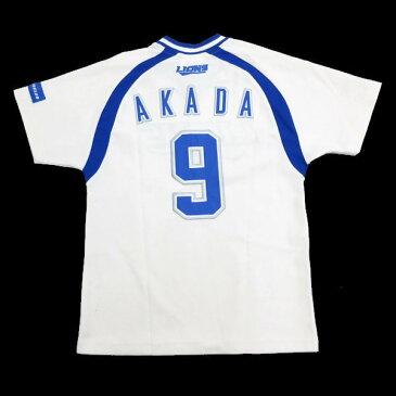■西武ライオンズ/SEIBU LIONS FANCLUB ユニフォームシャツ■白青【レディースS】/応援グッズ/Z01【中古】