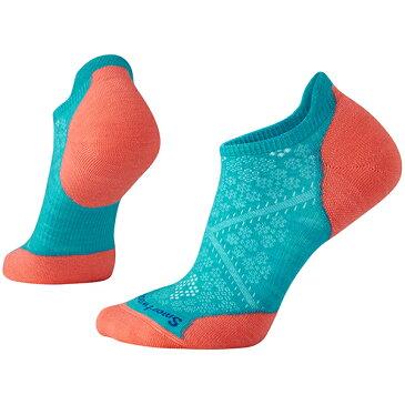 SmartWool(スマートウール) Ws PhDランライトエリートマイクロ/カプリ(new)/M SW70508女性用 ブルー 靴下 メンズウェア ウェア ソックス ウール アウトドアウェア