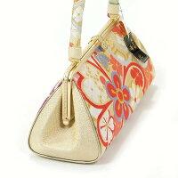 草履バッグセット帯地フリーサイズ振袖成人式日本製ゴールド