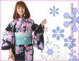 松田聖子 seiko matsuda 仕立て上がりゆかた (黒 バラ)オプションでお得な3点セットも選べます
