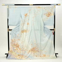 訪問着正絹礼装フォーマル未仕立て品お仕立て付水色