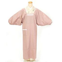 割烹着 水屋着 ロング丈 130cm ピンク フリーサイズ 日本製 ギフト プレゼントにも