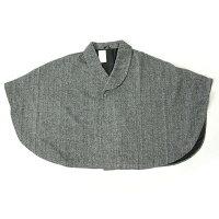和装コートポンチョケープコート着物コートケープマントヘリンボーン柄起毛グレー
