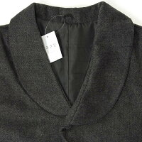 和装コートポンチョケープコート着物コートケープマントヘリンボーン柄起毛チャコールグレー