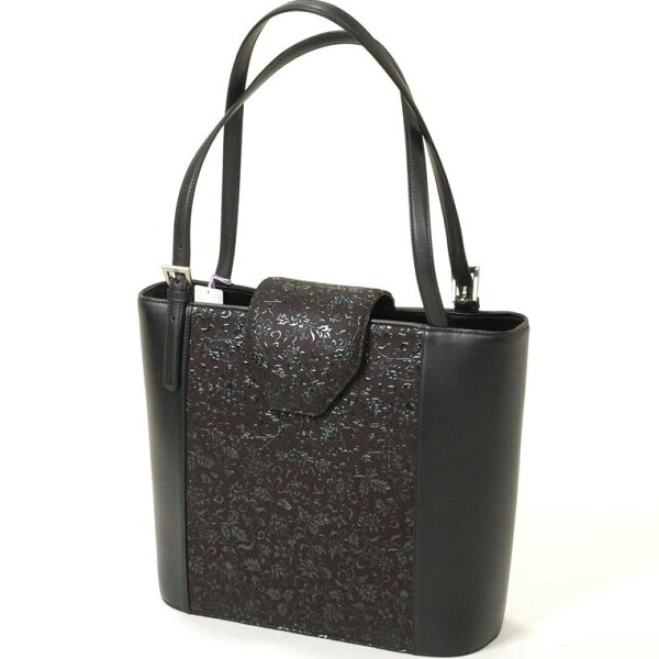 和装バッグ印伝屋甲州印伝鹿なめし皮和洋兼用ショルダーバッグ黒ギフトプレゼントにも