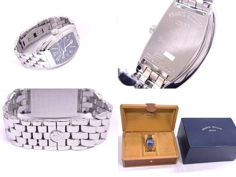 【美品】フランクミュラーFRANCKMULLER8005SCコンキスタドールSSブルー文字盤自動巻き【中古】
