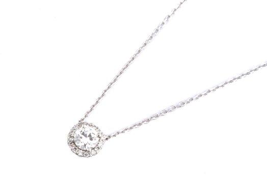 【美品】VANDOMEAOYAMAヴァンドーム青山ダイヤモンドグレースネックレスプラチナ【中古】
