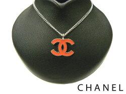 【新品同様】CHANELシャネル04Pココマークペンダントネックレスカラー:オレンジ