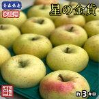 もぎたてを丸かじりでどうぞ!!【送料無料】数量限定!お試し品!青森県産 星の金貨 家庭用 3kg(約3キロ)  晩生種りんご 食品 果物 フルーツ お取り寄せグルメ