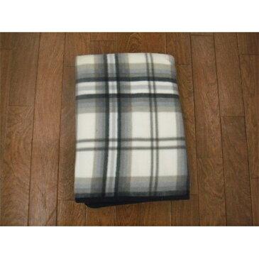 キョーエー フリース こたつ中掛毛布 チェック GY 185×185cm