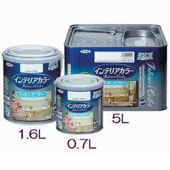 アサヒペン 水性インテリアカラー キッチン&サニタリー シルキーグリーン 0.7L 室内カベ...