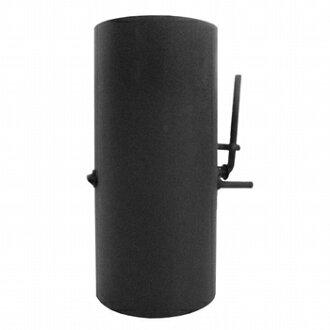 HONMA Honma Mfg. spread type single chimney for intermediate damper black heat-resistant steel damper diameter 150 mm